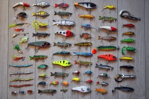 lots of fishing lures