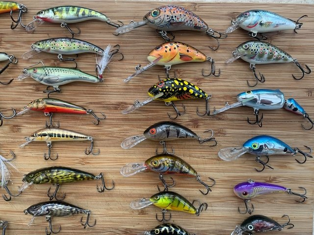 A selection of Salmo lures.