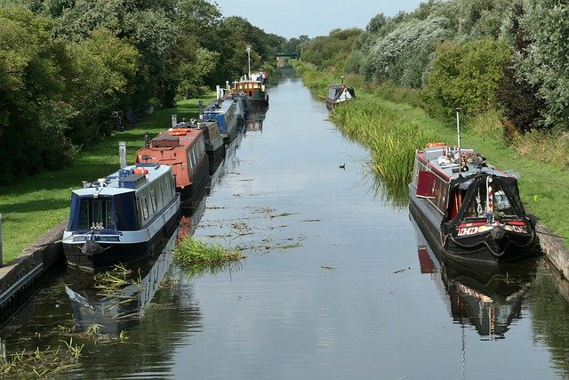 Some moored boats