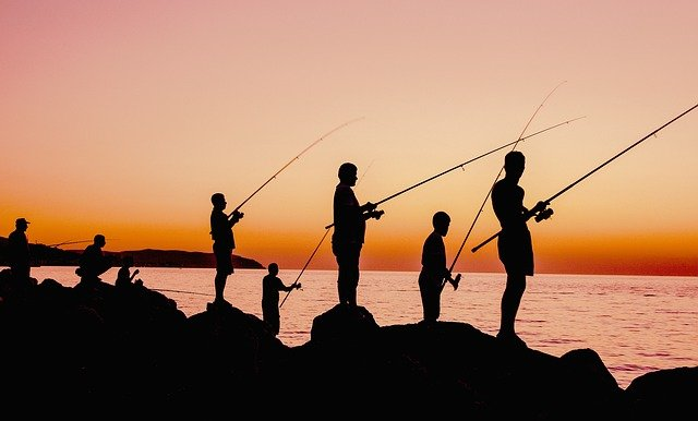 People with rods which you need a rod license for